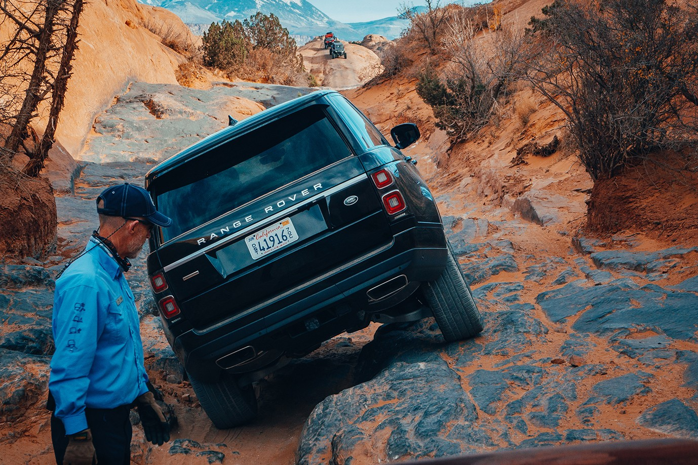 Land Rover Adventure Experience Moab Utah Info  Range Rover SUVs Luxury travel Discovery rock-crawling off-roading canyonlands