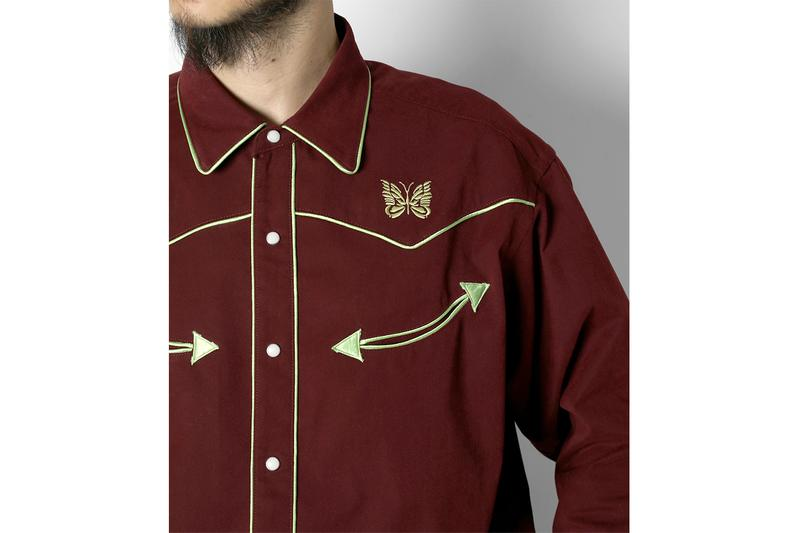 NEEDLES Butterfly-Embroidered Cowboy Shirt Nepenthes Japan Shirts Western
