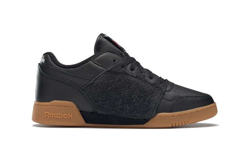 """NEPENTHES NY x Reebok Workout Plus """"Black/Gum"""" collaboration sneaker shoe red  FW8461 eva cushion sole suede crossgrain tumbled leather  price drop date release info"""