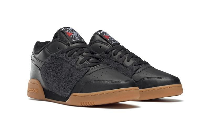 "NEPENTHES NY x Reebok Workout Plus ""Black/Gum"" collaboration sneaker shoe red  FW8461 eva cushion sole suede crossgrain tumbled leather  price drop date release info"