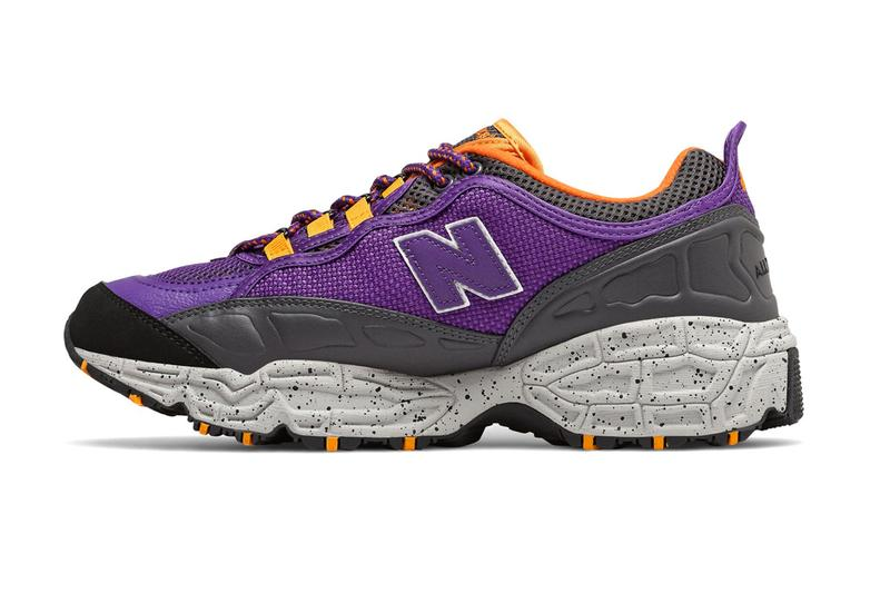 new balance purple orange all terrain trail runner outdoor weather 801 sneakers running