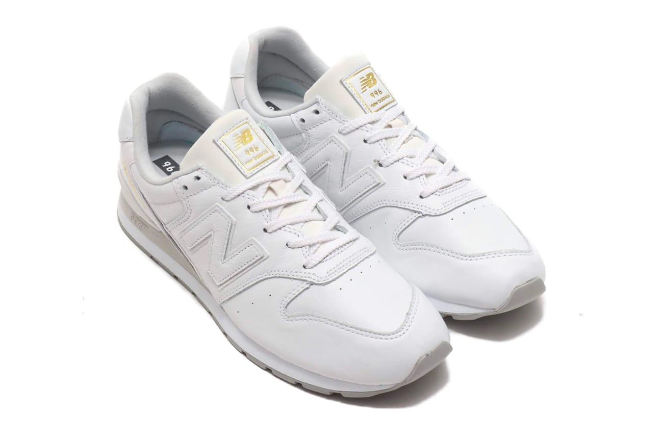 new balance 996 white leather