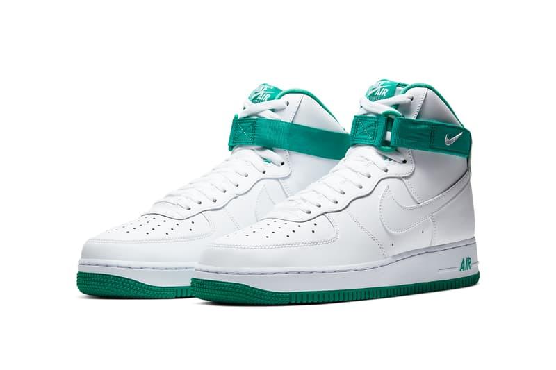Nike Air Force 1 High Neptune Green Release Hypebeast Drops