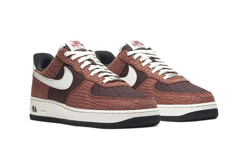 nike air force 1 prm premium red bark sail earth university CV5567 200 release date info photos price
