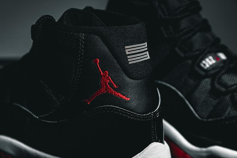 "Nike Air Jordan 11 ""Bred"" Closer Look Editorial 2019 HYPEBEAST In Hand Footwear MJ Michael Jordan Basketball 1996 Recreation Drop SNKRS App Release Information #23 Patent Leather Black Red White"