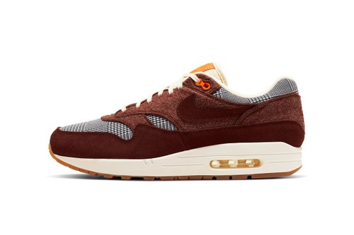 """Nike Air Max 1 """"Bronze Eclipse"""" Features a Stately Houndstooth Pattern"""