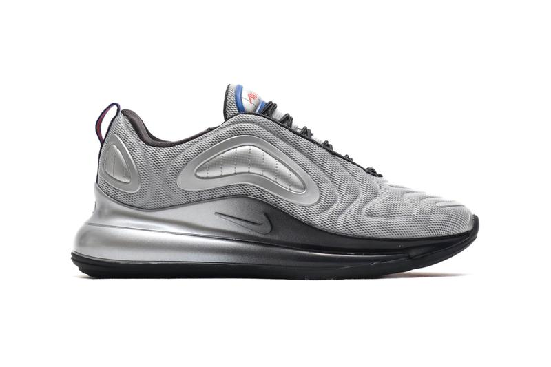 Nike Air Max 720 Metallic Silver Cosmic Clay swoosh check air unit sole feootwear sneakers runners trainers kicks shoes silver off noir 360 cushioning oregon holiday 2019 collection