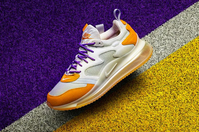 Nike OBJ Air Max 720 Canyon Gold Hyper Grape odell beckham jr 2019 december 12 28 info details release date shoes sneakers orange yellow pics pictures white purple red