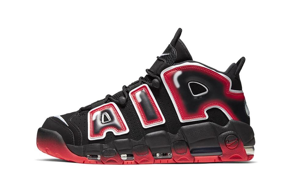 "Nike Revamps Air More Uptempo '96 in Bold ""Black/Laser Crimson"""