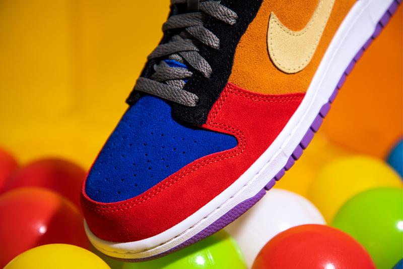 nike dunk low viotech release closer look release info ct5050-500 buy cop purchase raffle details orange purple green black white red blue