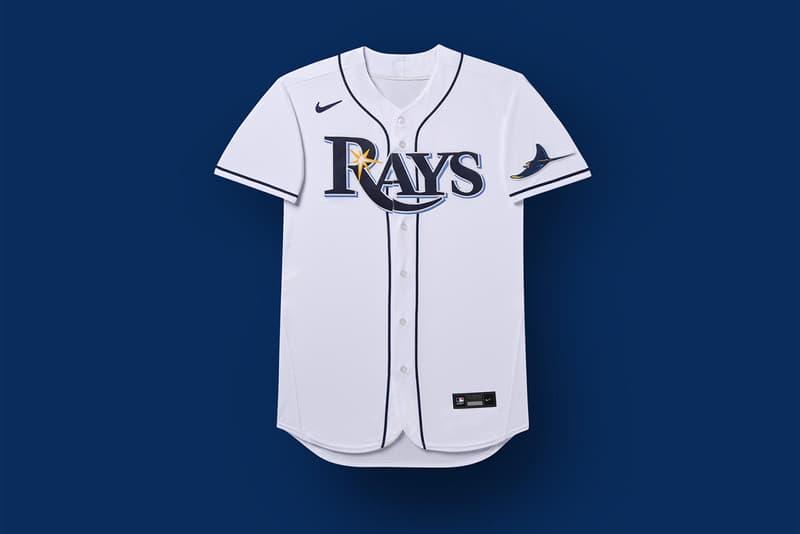 Nike Reveals First embroidered Swoosh MLB Jerseys jock tag branded major league baseball 2020 upcoming season graphics sponsor partner official apparel uniform yankees