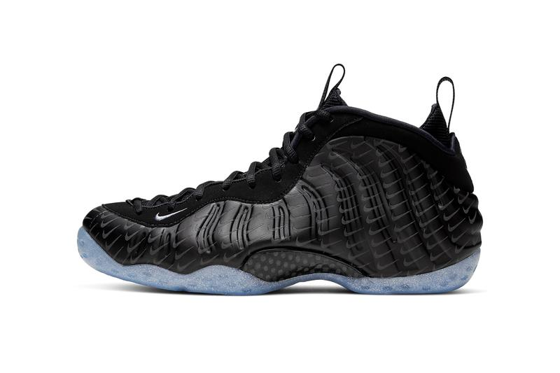 nike air foamposite one reflective swooshes print black blue beyond metallic silver CV0369 001 release date info photos price