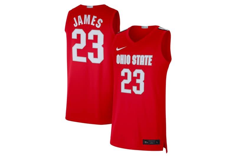 nike lebron james NBA basketball ohio state buckeyes jersey kit shirt alumni 23