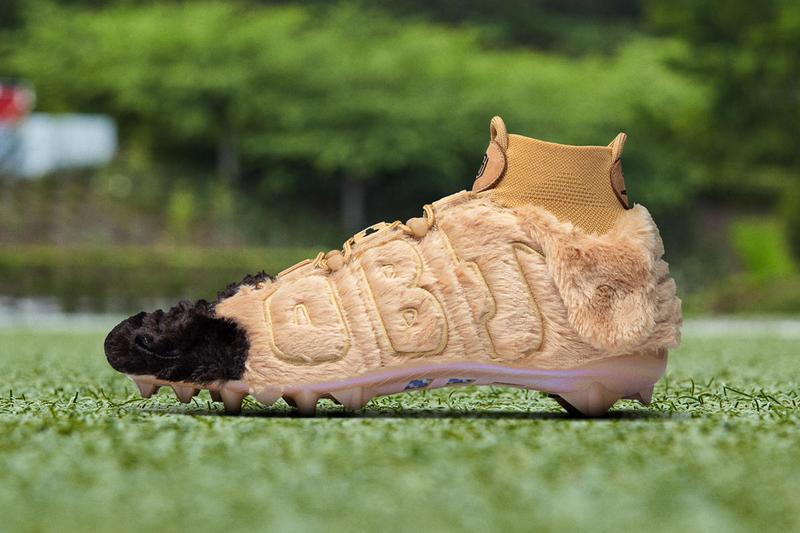 Nike custom Dog Inspired Cleats for Odell Beckham Jr obj canine pregame week 14 local Cleveland Animal Rescue Shelter nose snout 13 footwear shoes sneakers runners trainers nfl