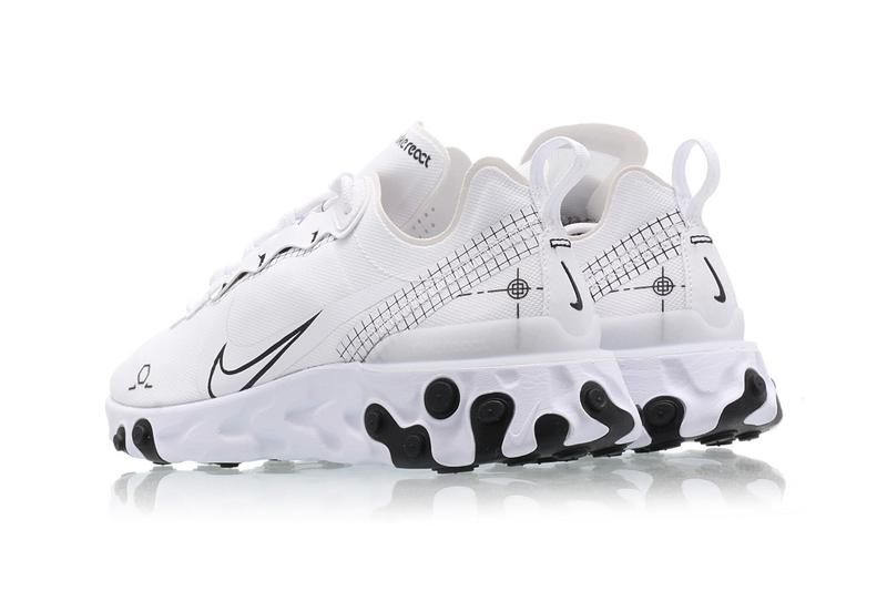 nike react element 55 white black schematic cu3009 100 release date info photos price
