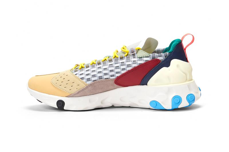 Nike React Sertu wolf Grey AT5301 001 multi color sneakers shoes trainers runners kicks lifestyle woven grosgrain fall winter 2019 footwear foam midsole suede leather rubber the 10th