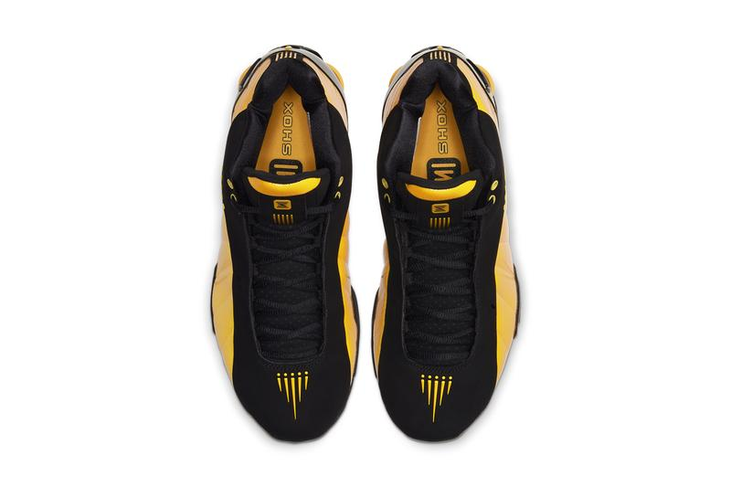 nike shox bb4 black university gold at7843-002 vince carter release date info photos price