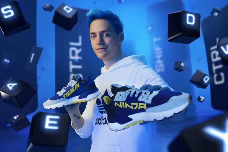 ninja tyler blevens adidas originals nite jogger time in fortnite blue grey yellow white fv6404 release date info photos price