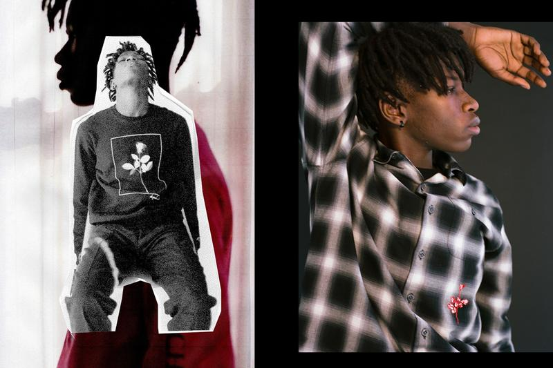 """NOAH Depeche Mode 'Violator' Capsule Collection T-shirts Hoodies Knitwear Long Sleeves Rose """"Personal Jesus"""" """"World in My Eyes"""" """"Enjoy the Silence"""" """"Policy of Truth"""" Beanies Scarves Jackets"""