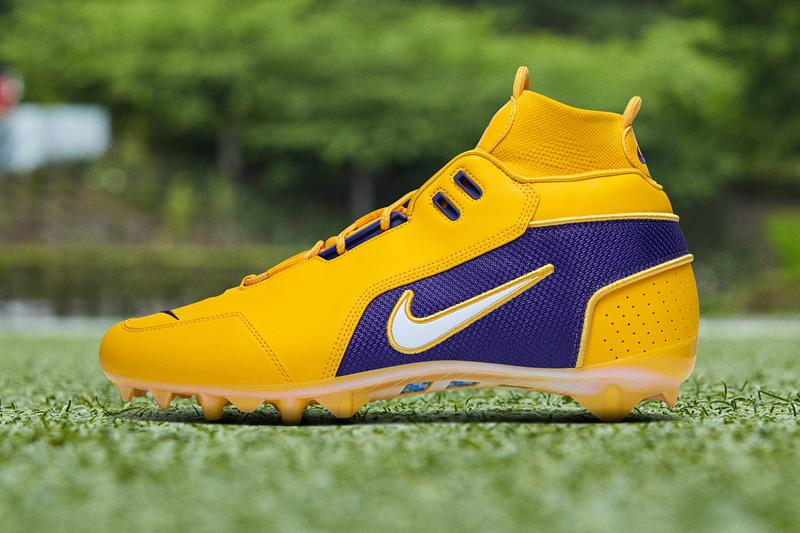 Odell Beckham Jr Week 15 Pregame Cleats Nike Vapor Untouchable Pro 3 OBJ Uptempo louisiana state university lsu los angeles Lakers lebron james