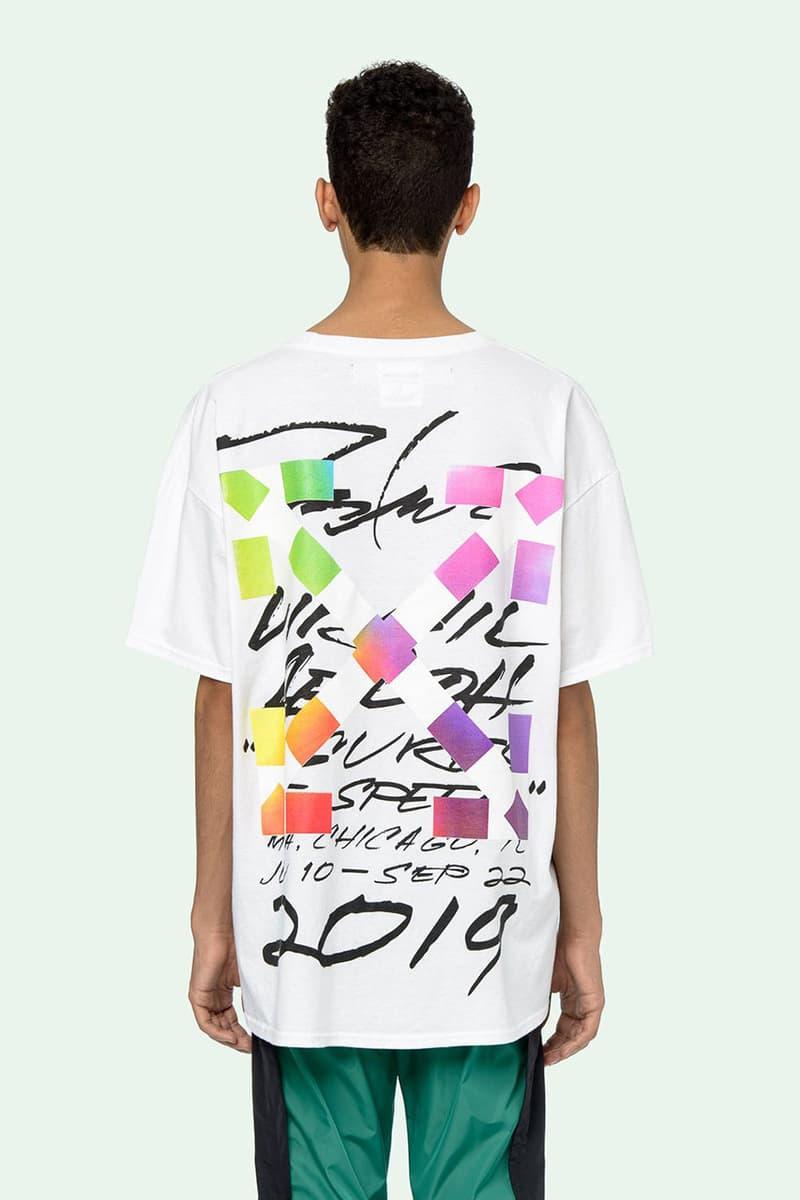 Off-White™ c/o Futura Alien Short Sleeve Over T-Shirt Pre-Order Live Closer Look Drop Information Virgil Abloh FL-001 Figure Cross Design