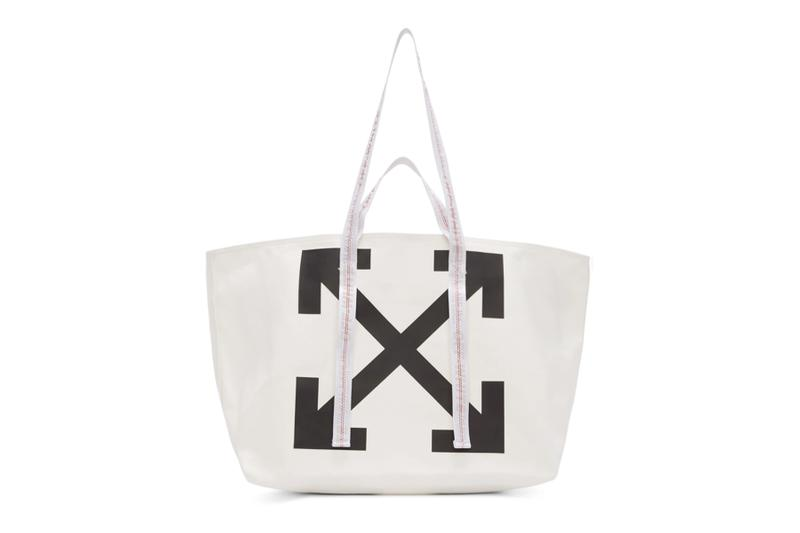 Off-White Arrows Commercial Tote Bags Release  PVC accessories Canvas Tote