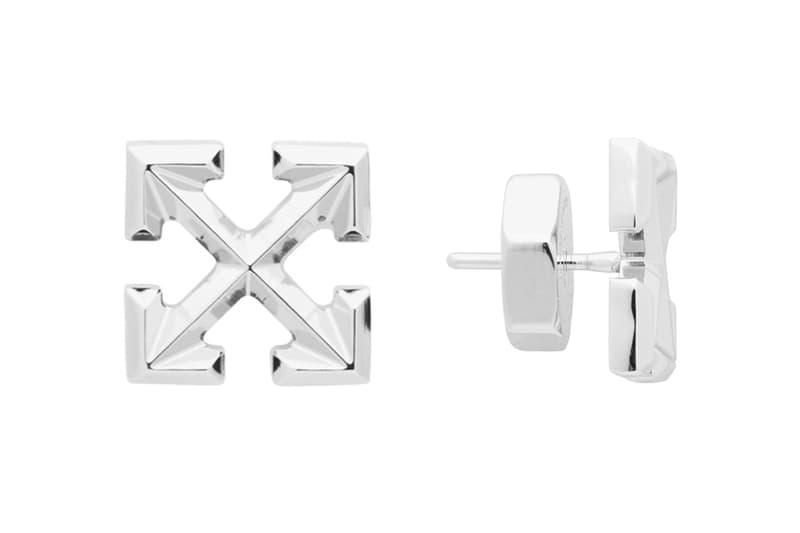 Off-White™ Mini Arrow Earrings Release Info Date Buy Price Silver Virgil Abloh