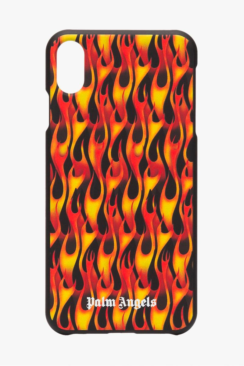 Palm Angels Black Flame Print iPhone XS Case browns fashion Release Info Date Buy