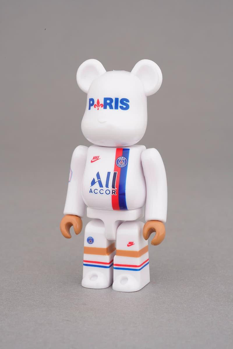 Paris Saint-Germain Third Kit Bearbrick Collab medicom toy figure collectible japan january 2 2020 jersey
