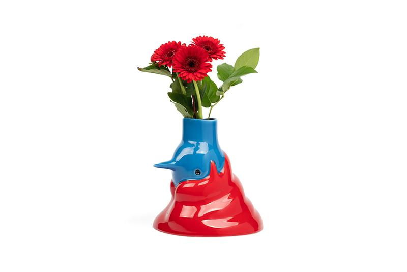Parra case studyo upside down face vase female bird red hair flowers ceramics art hand painted first look release information buy cop purchase byparra nike
