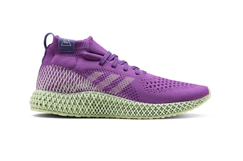 adidas Originals Pharrell Williams 4D Runner Release Info collaborations footwear sneakers 3d printing active purple tech olive