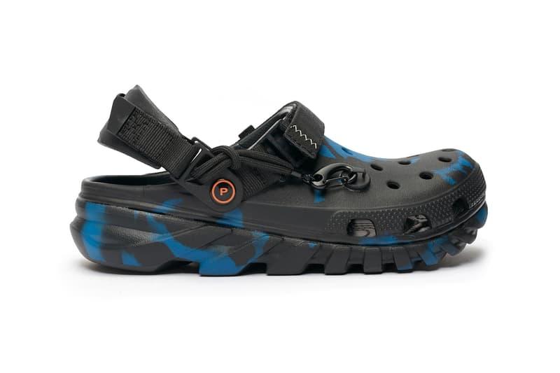 Post Malone x Crocs Duet Max Clog Release  Crocs footwear Posty Camo Clogs Foam comfort