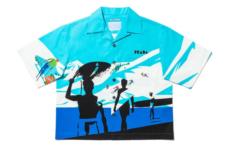Prada Time Capsule January 2020 Shirt Launch program camp collar exclusive limited 24 hour release camp collar rem koolhaas
