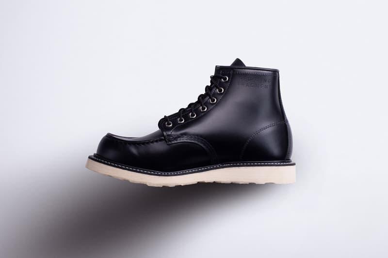 fragment design x Red Wing Boot Hiroshi Fujiwara Collaboration 4679 Mock Toe Black Leather 466 Round Toe