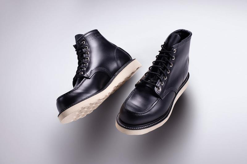 fragment design x Red Wing Boot Hiroshi Fujiwara Collaboration 4679 Mock Toe Black Leather 466 Round Toe