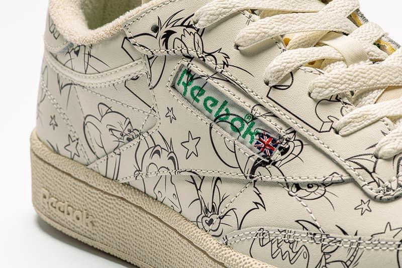 Reebok Tom and Jerry 2019 Capsule collection footwear shoes sneakers runners trainers court kicks cartoons animation 80 years warner bros Club C Revenge instapump fury