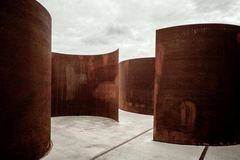 Reiulf Ramstad Arkitekter 'Gates of Happiness' Chemin des Carrières Rosheim France Architecture Steel Sculptures Pavilions 'Portes Bonheur: le Chemin des Carrières'