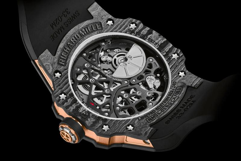 Richard Mille RM 33-02 Watch Info carbon case 41mm swiss design RM watches Luxury timepiece gold