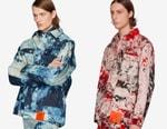 S.R. STUDIO. LA. CA. Drops Bleached Indigo and Multi-Colored Pine Grove Chore Coats