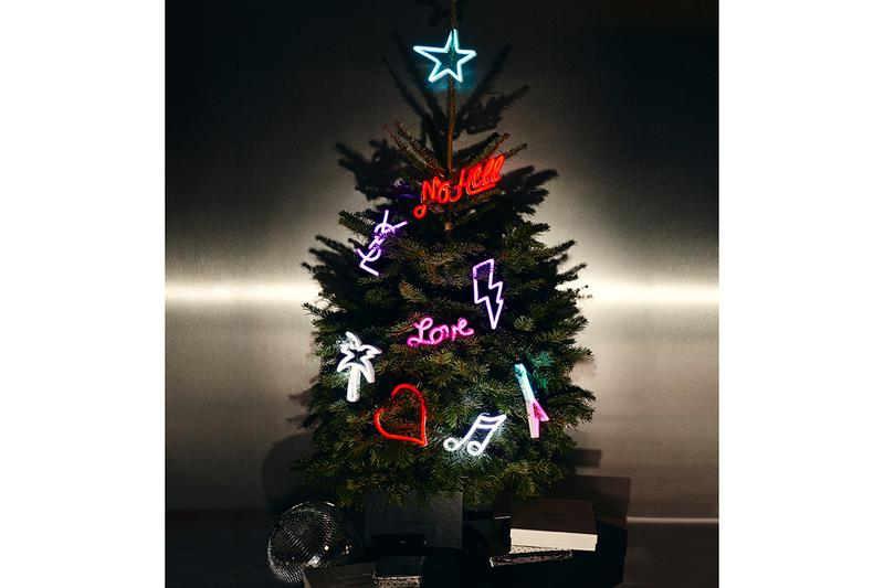 Saint Laurent Rive Droite Holidays 2019 Collection Homeware Christmas Gifts Presents Luxury Xmas Tree Pinewood Forest Baccarat Black Heart Amor, Louxor vase, Louxor vide-poche Louxor Tumblers Ski SetPierre Hermé