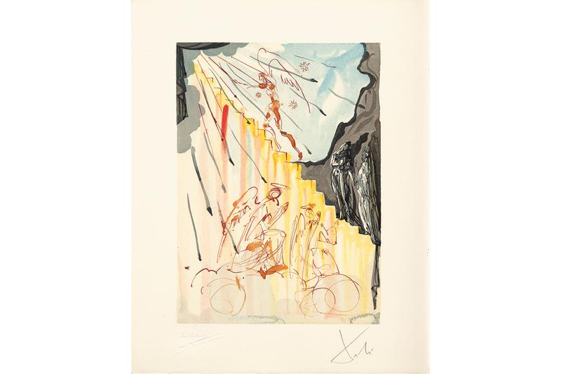 salvador dali plains art museum stairway to heaven artworks works on paper watercolor surrealism surrealist