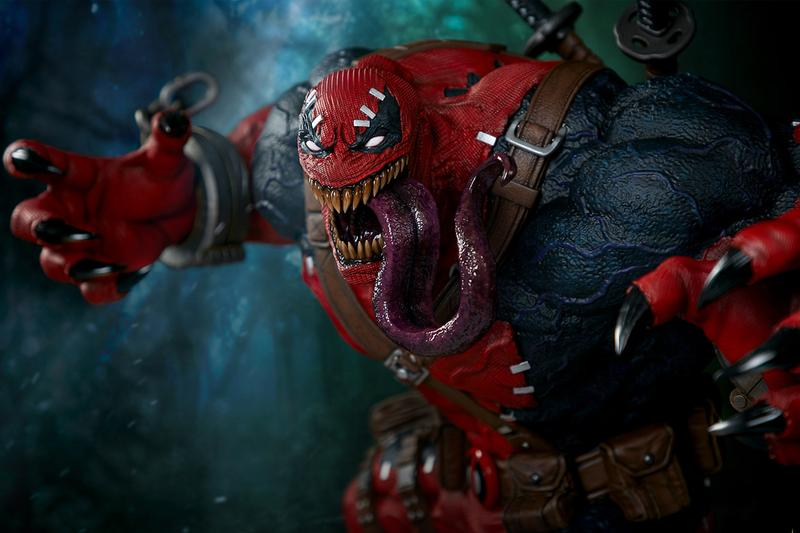 sideshow collectibles 40 inch statue marvel contest of champions venom deadpool venompool toy Release info Date Buy Price