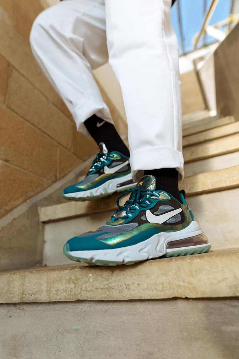 size exclusive nike air max 270 react dragonfly green iridescent clear release date info photos price