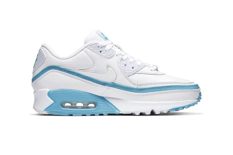 StockX Nike Air Max 90 UNDEFEATED Pack infrared aqua blue green optic yellow double mudguard white and black based five-strike logo