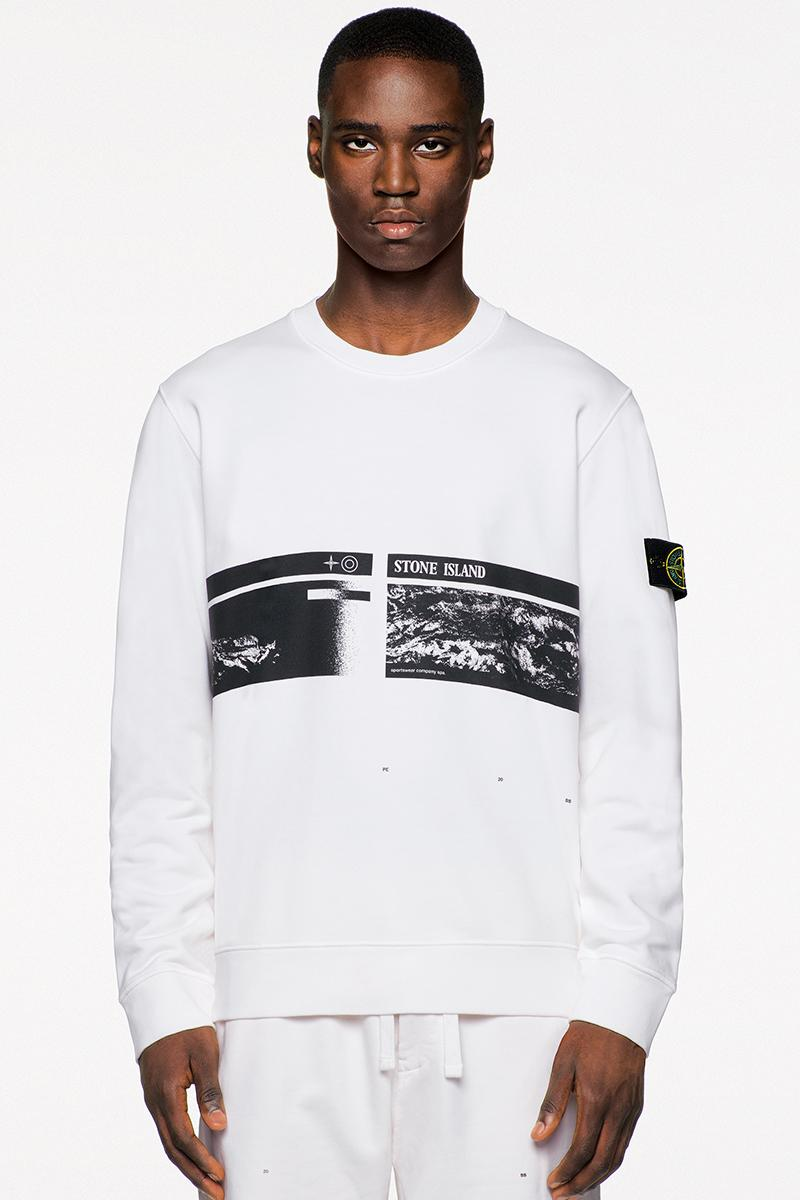Stone Island SS20 Icon Imagery Collection Lookbook technical apparel casual sportswear contemporary david-tc camouflage reflective frost nylon metal