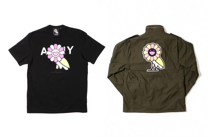 "Takashi Murakami & OVO Announce ""Surplus"" Collection m65 hoodies drizzy drake Canada Japan KaiKai KiKi shirts fashion collaborations"