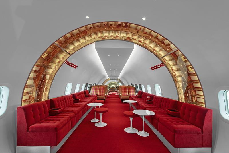 TWA Hotel Turns Vintage Airplane Into Retro Bar cocktail hospitality airports jfk 1958 Lockheed Constellation Strainer aircraft