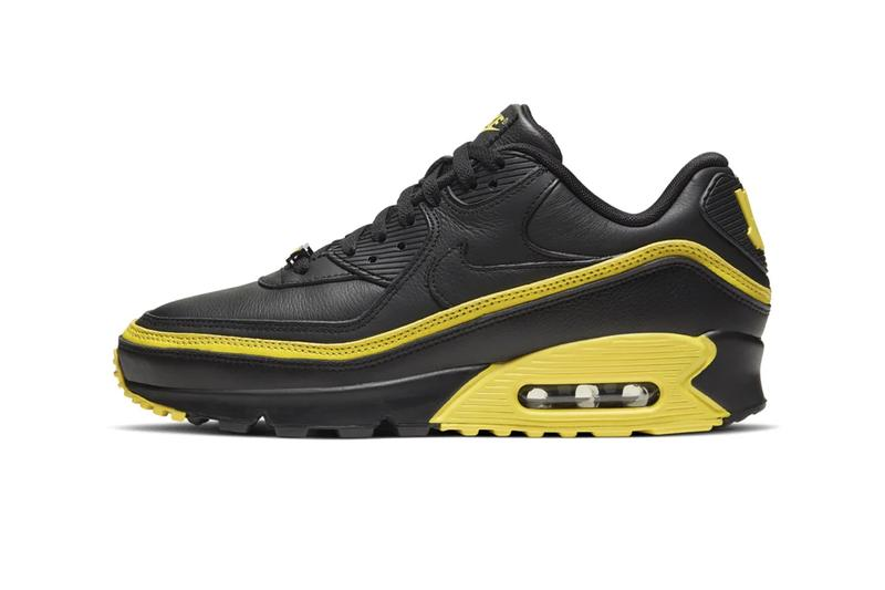 UNDEFEATED x Nike Air Max 90 Pack Release Information Official Look First Product Shots Footwear Sneakers Swoosh Collaboration Hyped Kicks White Blue Fury Opti Yellow Black