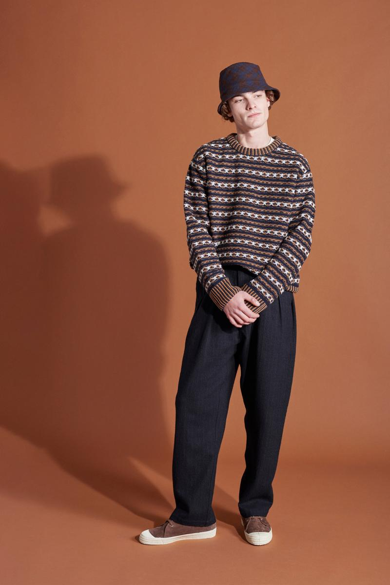 Universal Works Fall/Winter 2019 Lookbook Outerwear Sweaters Jumpers Trousers T-Shirts Autumnal Accessories Aesop's fable of the Hare and the Tortoise British Classic Brand Anniversary Collection