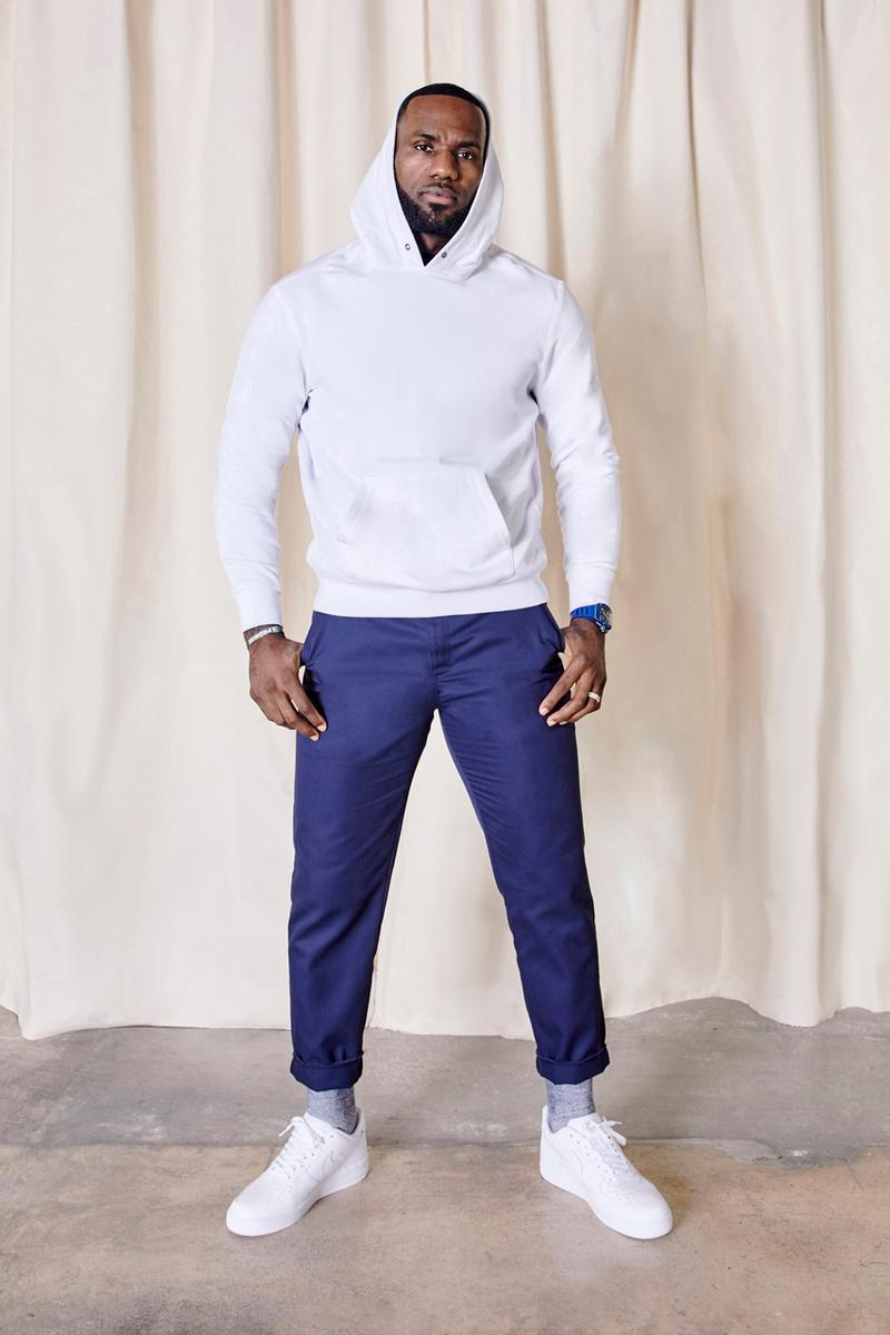 UNKNWN Collection 001 LeBron James Lookbook in house private label clothing line basics premium miami wynwood